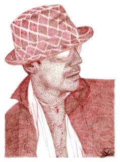 Soren B, rapidograph china rossa, 2007
